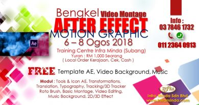 BENGKEL VIDEO MONTAGE AFTER EFFECT (MOTION GRAPHIC)