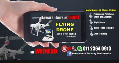 KURSUS FLYING DRONE AERIAL VIEW SHOOTING (OUTDOOR)