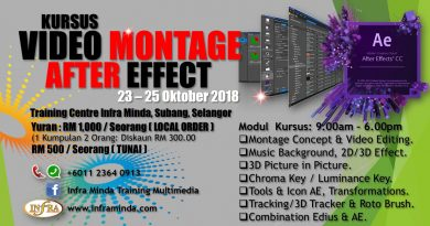 KURSUS VIDEO MONTAGE AFTER EFFECT